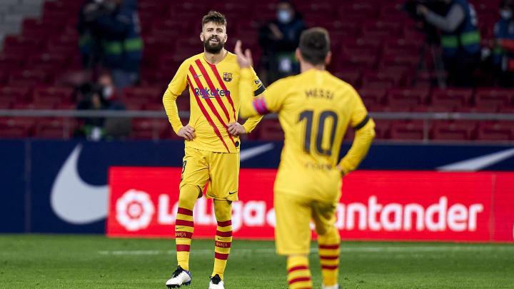 Atletico de Madrid v FC Barcelona - La Liga Santander - Gerard Piqué.