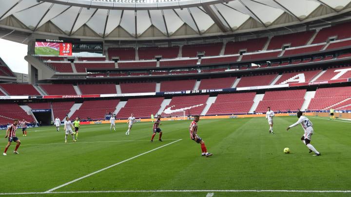 Atletico gegen Real Madrid im Wanda Metropolitano.