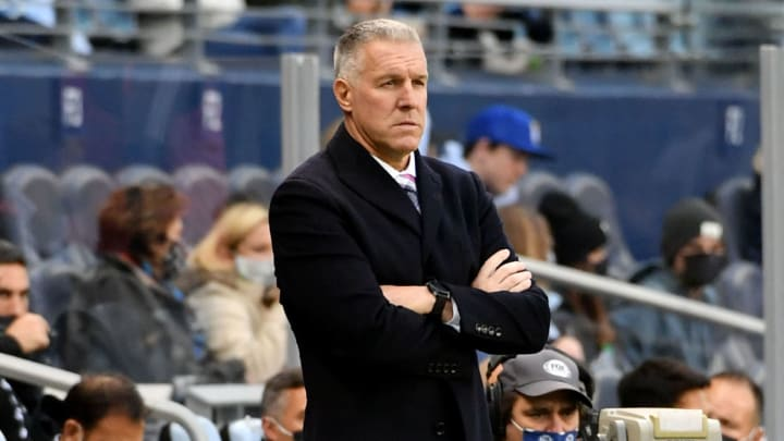 Peter Vermes took issue with Marcos de Oliveira's officiating