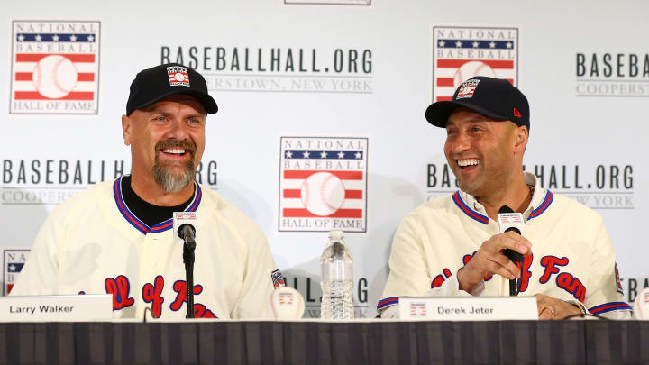 Larry Walker y Derek Jeter fueron los dos ganadores en el proceso del Salón de la Fama en 2020