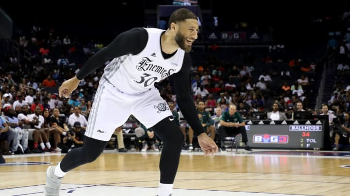 CHARLOTTE, NORTH CAROLINA - JUNE 29: Royce White #30 of Enemies reacts against Ball Hogs during week two of the BIG3 three on three basketball league at Spectrum Center on June 29, 2019 in Charlotte, North Carolina. (Photo by Streeter Lecka/BIG3/Getty Images)