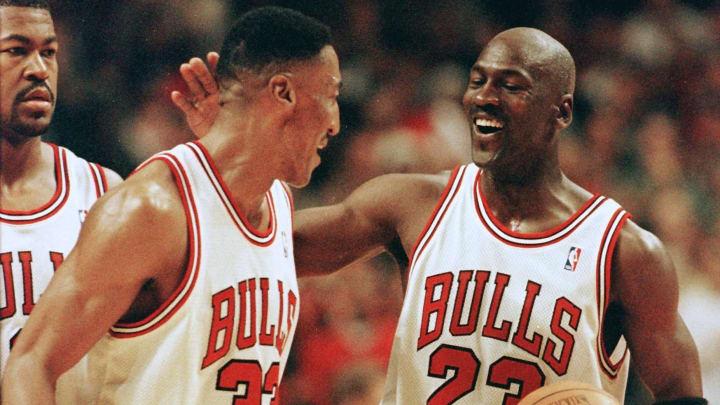 Chicago Bulls legends Michael Jordan and Scottie Pippen