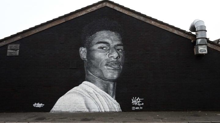 Das Wandgemälde von Marcus Rashford wurde verschandelt