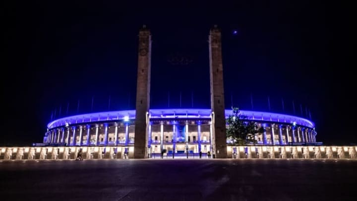 The Olympiastadion Berlin is an incredible sight