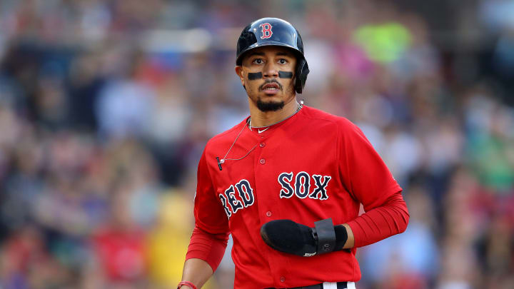Red Sox outfielder (for the moment) Mookie Betts.