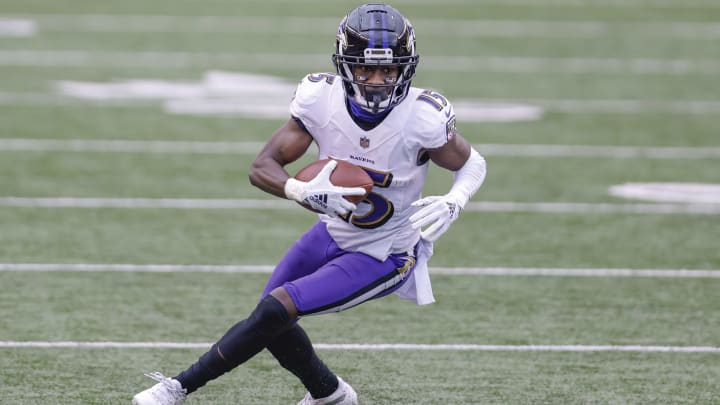 A look at the Baltimore Ravens' WR depth chart following the NFL Draft.