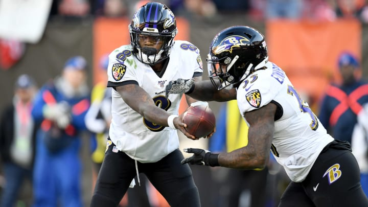 Lamar Jackson rushed for 103 yards against the Browns in Week 16.