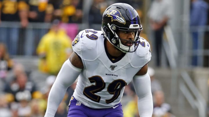 PITTSBURGH, PA - OCTOBER 06:  Earl Thomas #29 of the Baltimore Ravens  in action against the Pittsburgh Steelers on October 6, 2019 at Heinz Field in Pittsburgh, Pennsylvania.  (Photo by Justin K. Aller/Getty Images)