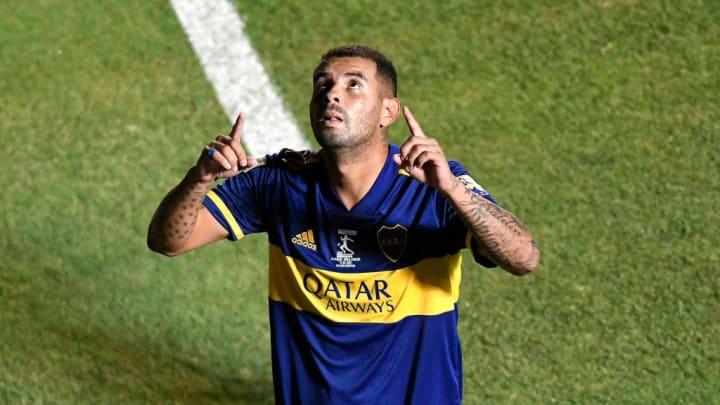 Banfield v Boca Juniors - Copa Diego Maradona 2020 Final - Cardona festeja el golazo ante Banfield.