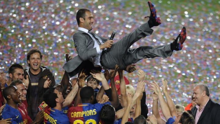 Auch Guardiola konnte sich bereits als Sextuple-Gewinner feiern lassen