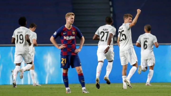 Die 2:8-Niederlage gegen Bayern dürfte bei de Jong einen bleibenden Eindruck hinterlassen haben