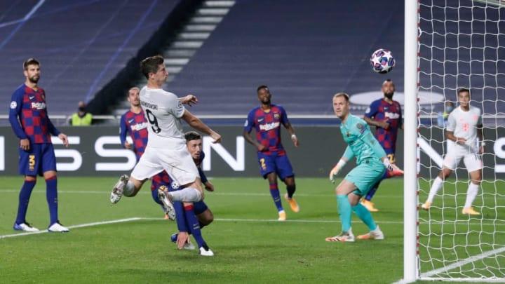 Robert Lewandowski grabs his customary goal in the win over Barcelona
