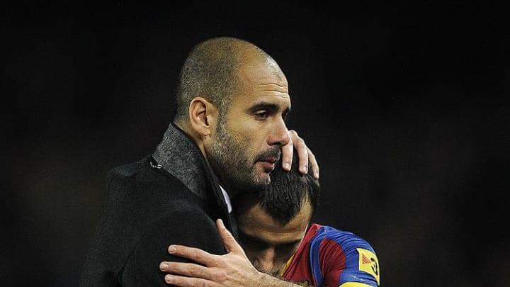 Guardiola y Mascherano en Barcelona