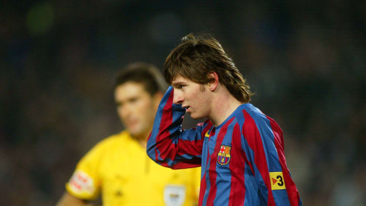 A fresh-faced Messi in 2005