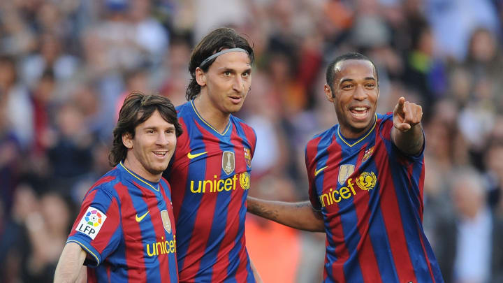 Lionel Messi, Thierry Henry, Zlatan Ibrahimovic