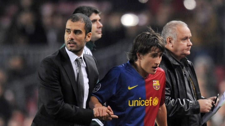 Barcelona´s Spanish head coach Pep Guard