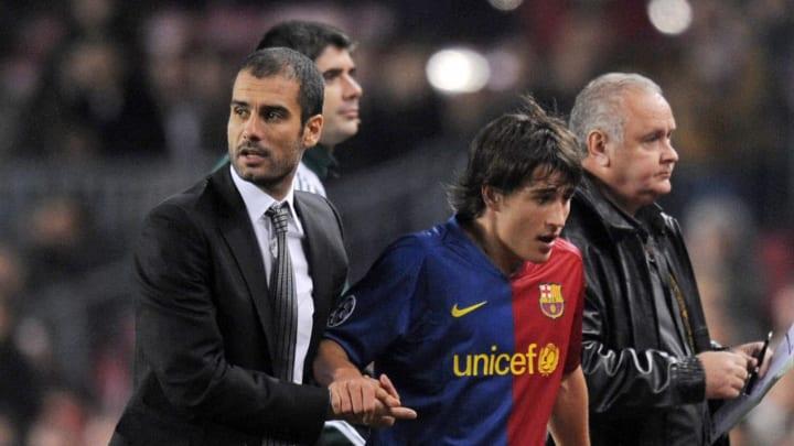 Barcelona´s Spanish head coach Pep Guard