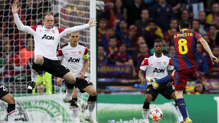 Iniesta and Rooney battled in Champions League finals on multiple occasions