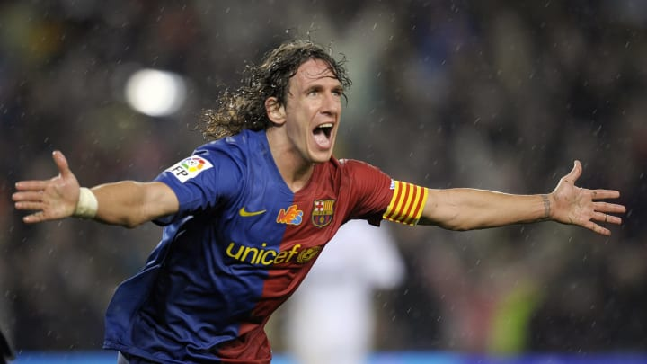 Barcelona's captain defender Carles Puyo