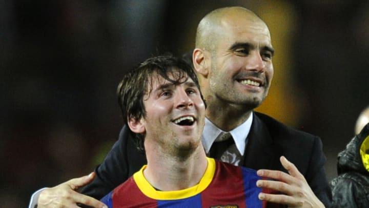 Lionel Messi und Pep Guardiola: Bald wieder beim FC Barcelona vereint? (v.l.)