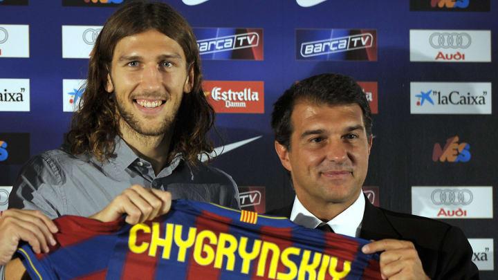 Barcelona's new player Ukrainian Dmytro