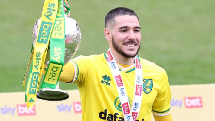 Emiliano Buendia a remporté la Championship avec Norwich.
