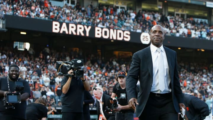 Barry Bonds made postseason history with the San Francisco Giants.