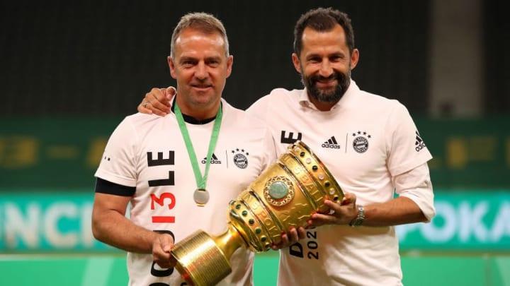 Wohl auch in Zukunft das starke Führungsduo beim FC Bayern: Hansi Flick und Hasan Salihamidzic (v.l.)