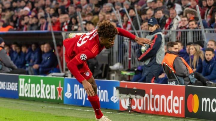 Schrecksekunde: Gegen Tottenham Hotspur verdrehte sich Kingsley Coman das Knie. Ein Kreuzbandriss konnte jedoch schnell ausgeschlossen werden.