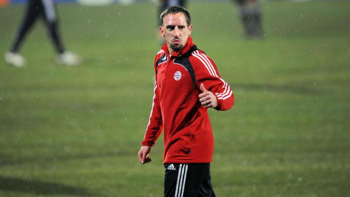 Bayern Munich French player Franck Riber