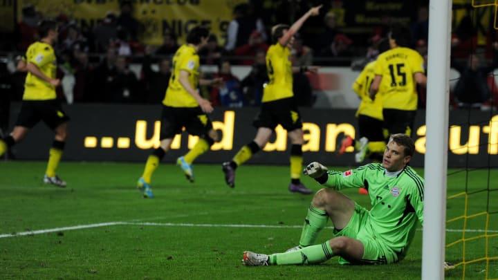 Neuer looks on in despair as Dortmund take the lead