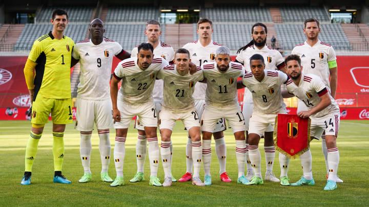 L'équipe belge lors de la victoire 1-0 contre la Croatie le dimanche 6 juin.