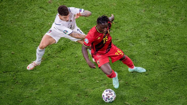 Jérémy Doku machte gegen Italien ein klasse Spiel. Sehen wir den Youngster demnächst in der Bundesliga?