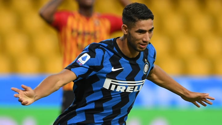 Achraf Hakimi already has a goal and two assists in just 116 minutes of action in Inter colours