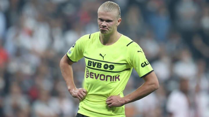Erling Haaland en Ligue des Champions face au Besiktas.