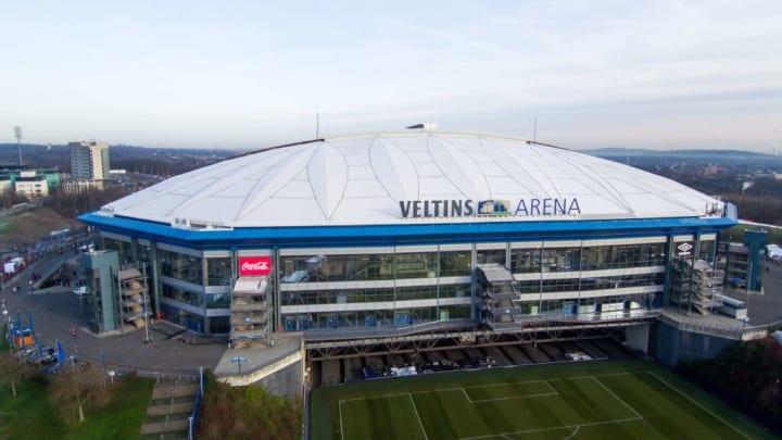 Veltins-Arena aus der Luft