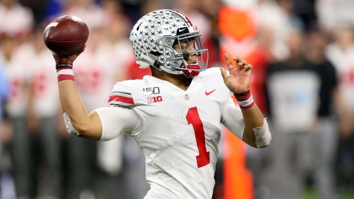 Quarterback Justin Fields passes Mac Jones in odds to be selected No. 3 overall by the San Francisco 49ers.