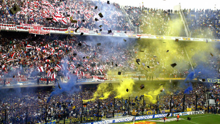 Boca Juniors and River Plate's fans chee