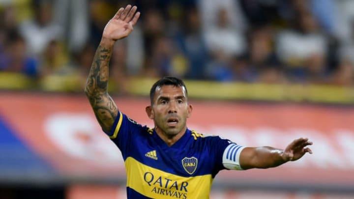 Carlos Tevez avec le Boca Juniors.
