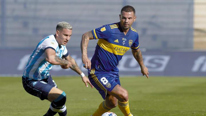 Boca Juniors v Racing Club - Copa de la Liga Profesional 2021: Semi Final - Edwin Cardona en su último partido disputado en Boca.