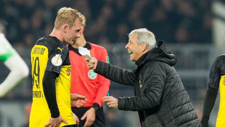 Auch BVB-Coach Lucien Favre setzt nicht konstant auf die Dienste von Brandt
