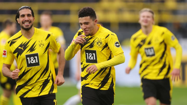 Jadon Sancho grabbed his 50th Bundesliga assist against Arminia Bielefeld