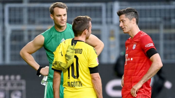 Manuel Neuer, Mario Gotze and Robert Lewandowski