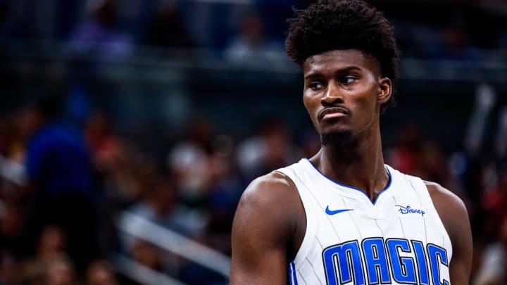ORLANDO, FLORIDA - OCTOBER 11: Jonathan Isaac #1 of the Orlando Magic on court against the Boston Celtics in the 2nd quarter at Amway Center on October 11, 2019 in Orlando, Florida. (Photo by Harry Aaron/Getty Images)