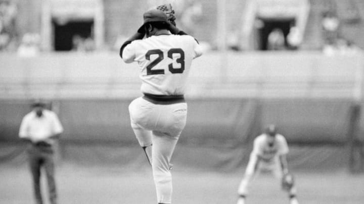 Boston Red Sox pitcher Luis Tiant made history in 1975.