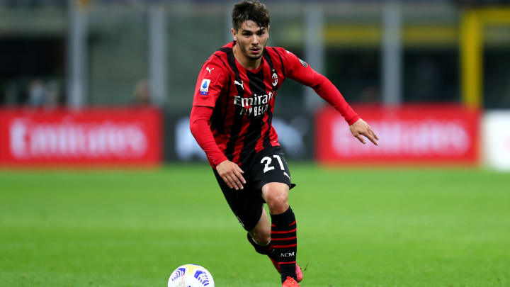 Brahim Diaz of Ac Milan  in action during the Serie A match...