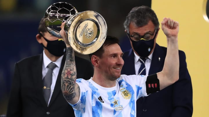 Lionel Messi ended his long wait for an international trophy