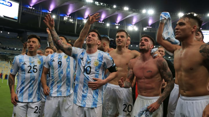 Brazil v Argentina: Final - Copa America Brazil 2021 - Messi, De Paul y compañía cantan siendo campeones.