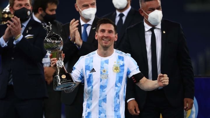 Lionel Messi was injured for the Copa America 2021 final