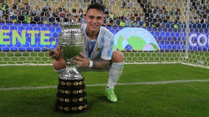 Lautaro Martínez nach dem Gewinn der Copa America